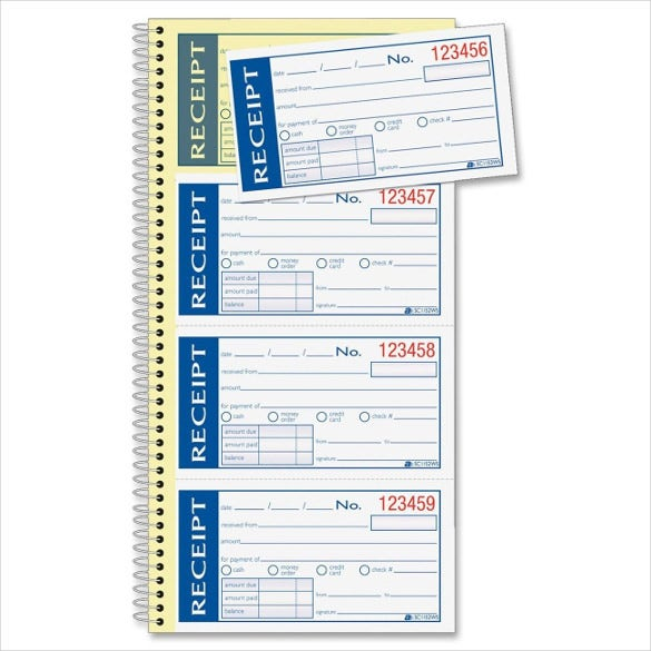 Blank Receipt Template 20 Free Word Excel PDF Vector EPS – Sample Receipt Book