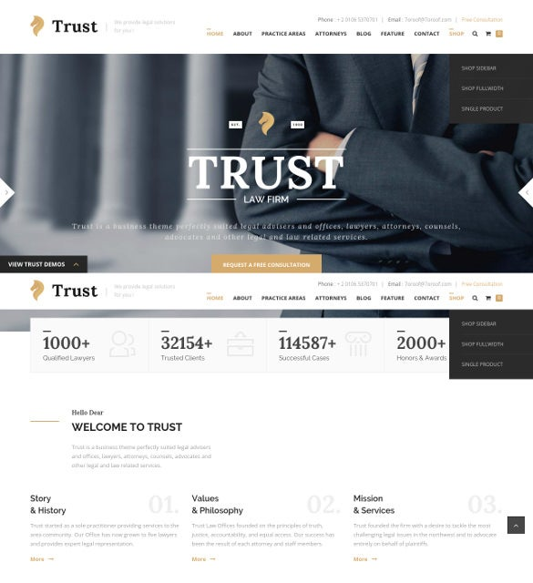 law legal business wp blog theme