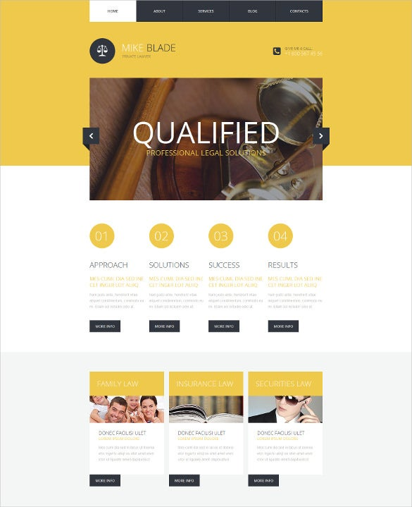 law legal responsive website template
