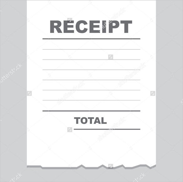 Blank Receipt Template 20 Free Word Excel PDF Vector EPS – Blank Receipt to Print