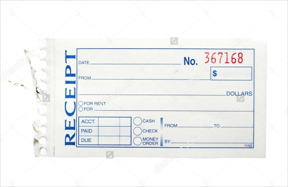 Blank Receipt Template 23 Free Word Excel PDF Vector EPS – Blank Receipt Template
