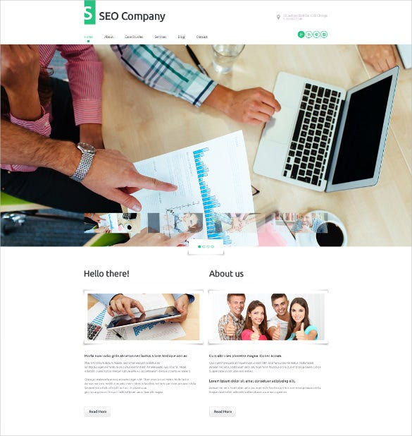 seo company marketing wordpress theme