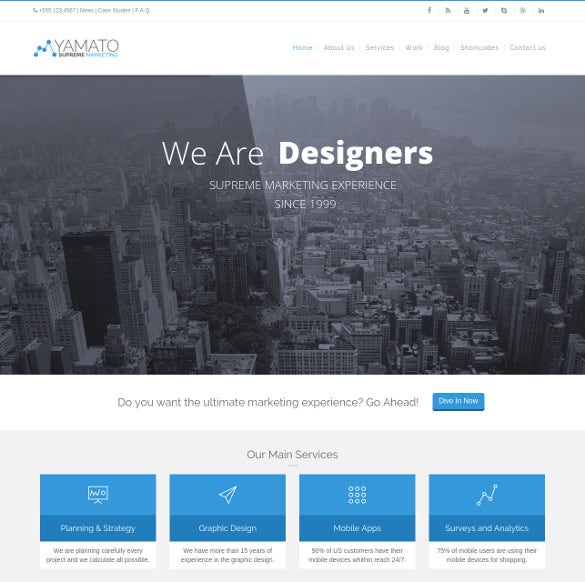 yamato corporate marketing wordpress theme