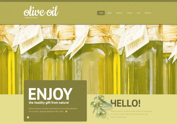 olive oil marketing wordpress theme