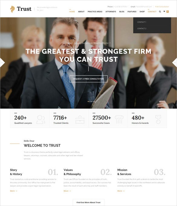 law legal business html blog template
