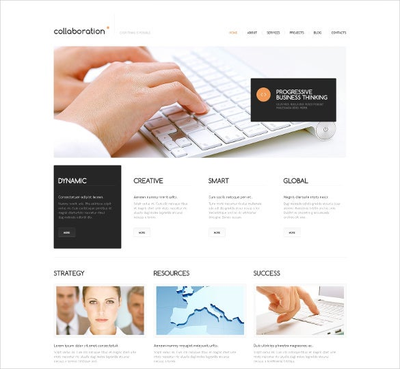 minimal marketing agency wordpress theme