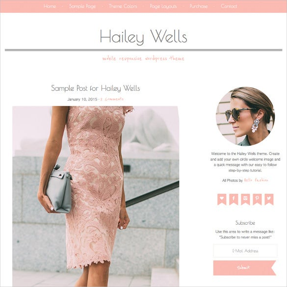 hailey wells marketing wordpress theme
