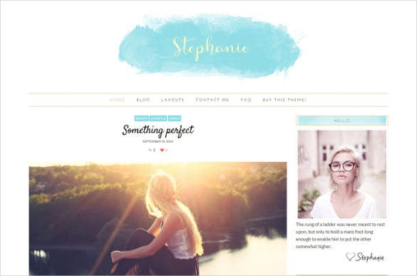 feminine wordpress theme stephanie1