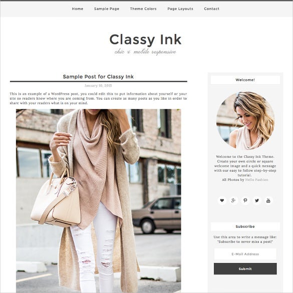classy ink marketing wordpress theme