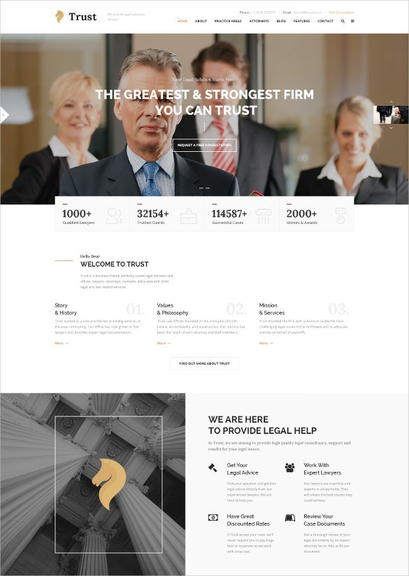 law legal attorney business psd blog template