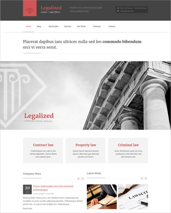 law legal wordpress blog theme