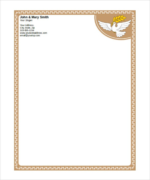 free word letterhead templates download
