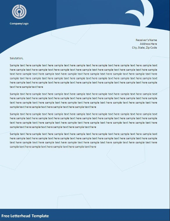 32 word letterhead templates free samples examples for Word letterhead template with logo