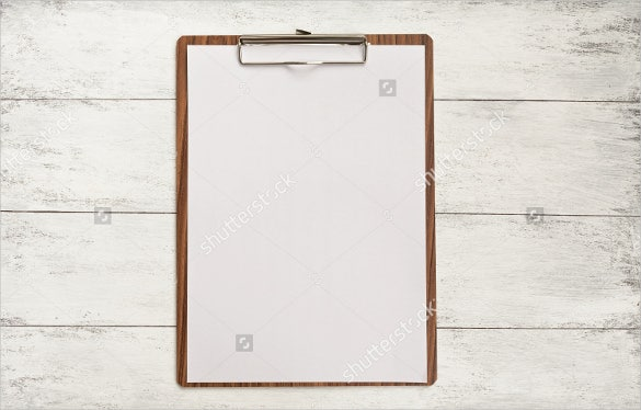 Blank Menu With Wood Background
