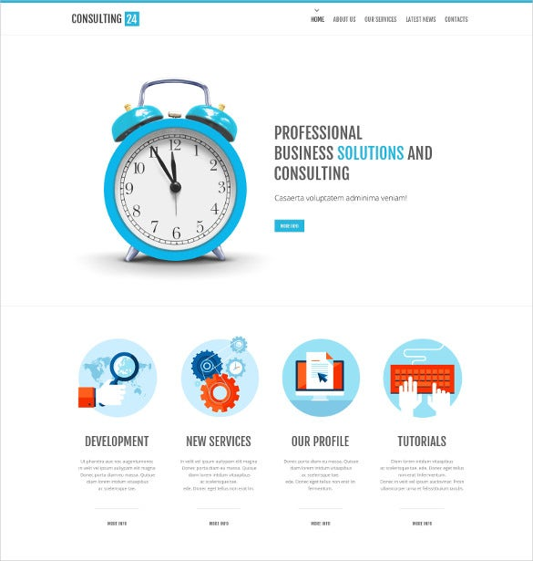 consulting website html template