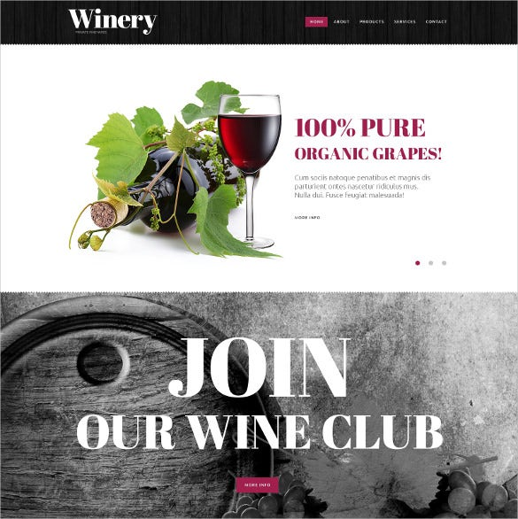winery website html mobile template