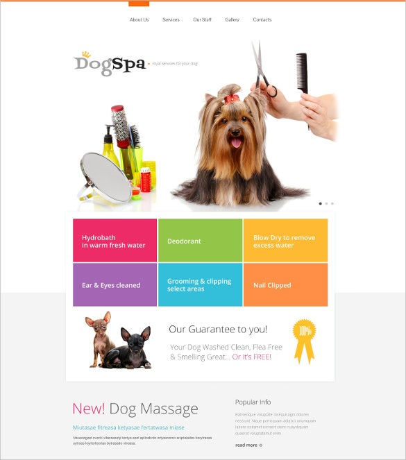 dog responsive website html mobile template