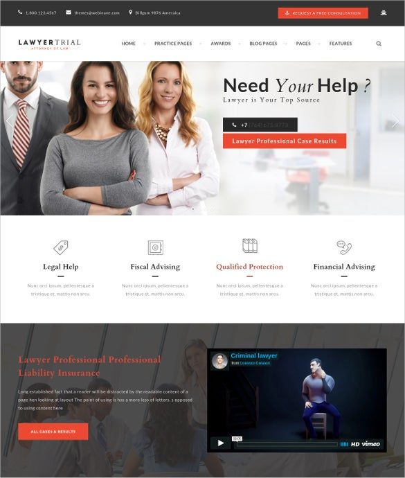 law legal wp blog theme