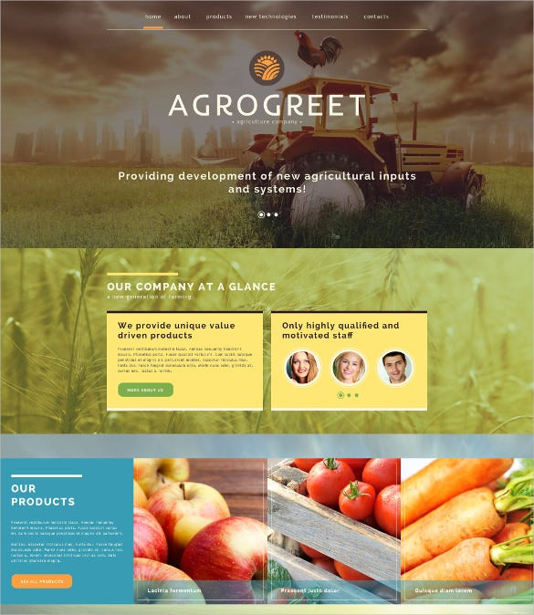agriculture website mobile html template