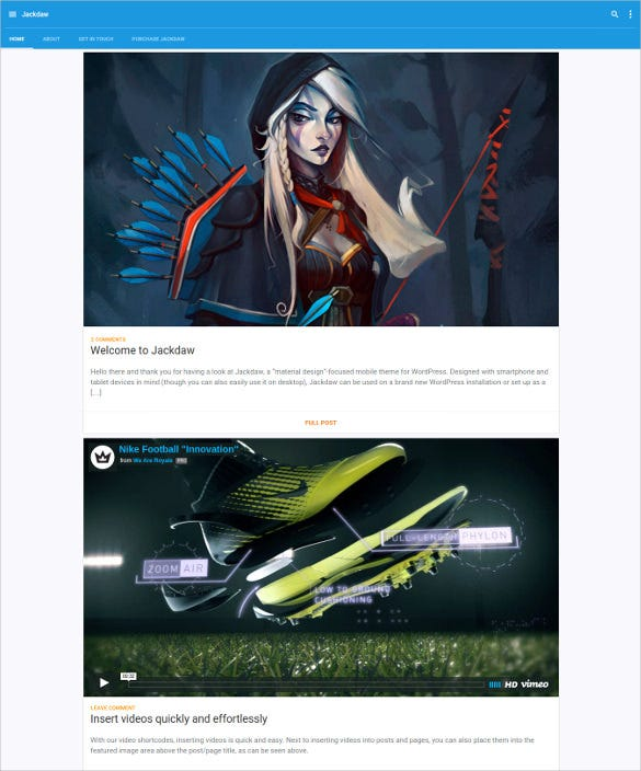 elegant wordpress mobile html theme