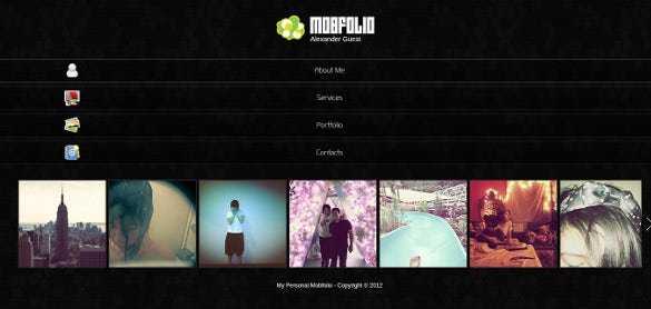 mobfolio html5 mobile website theme