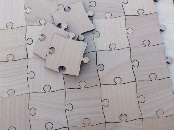 Puzzle template blank puzzle template free premium for Large blank puzzle pieces template
