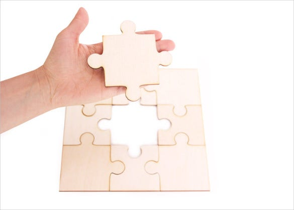 diy large wooden blank puzzle
