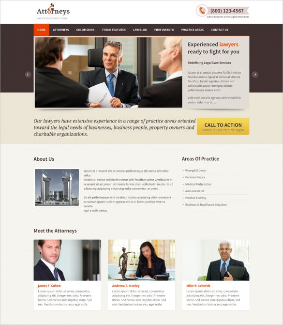 responsive law legal blog theme