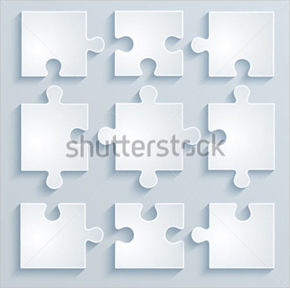 parts of blank paper puzzles template