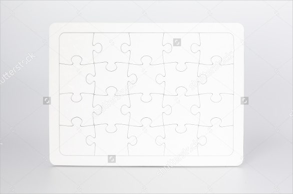 jigsaw puzzle with 20 blank pieces