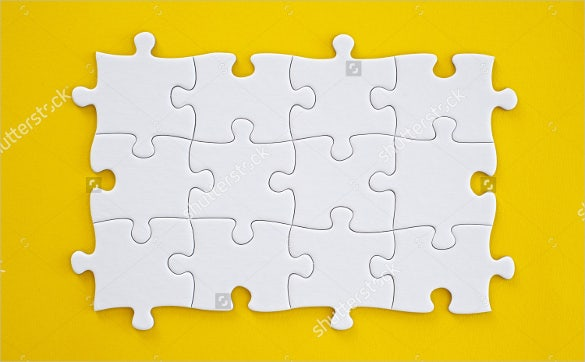 Puzzle Template Blank Puzzle Template  Free  Premium Templates