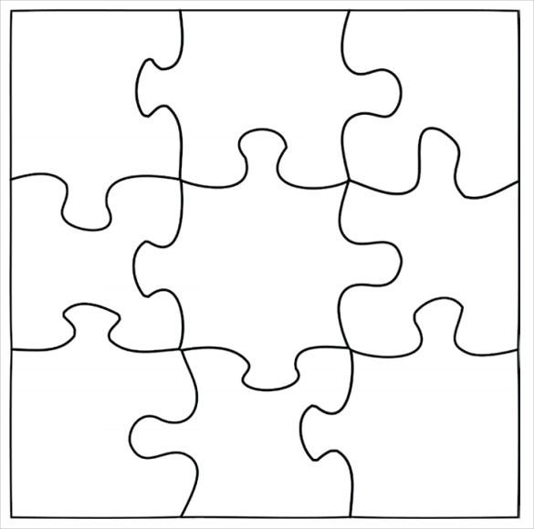 image regarding Printable Blank Puzzle referred to as Puzzle Template, Blank Puzzle Template Cost-free High quality