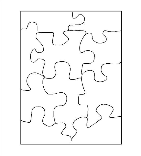 Inventive image with printable blank puzzle