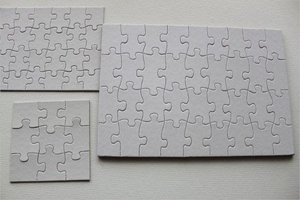 blank puzzles to decorate