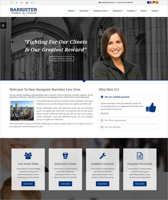 responsive law legal business html5 template