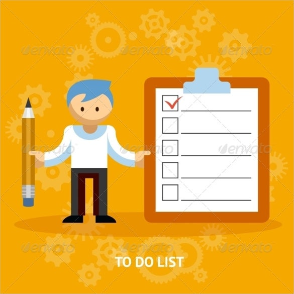 Editable EPS Blank Checklist  Editable Checklist Template