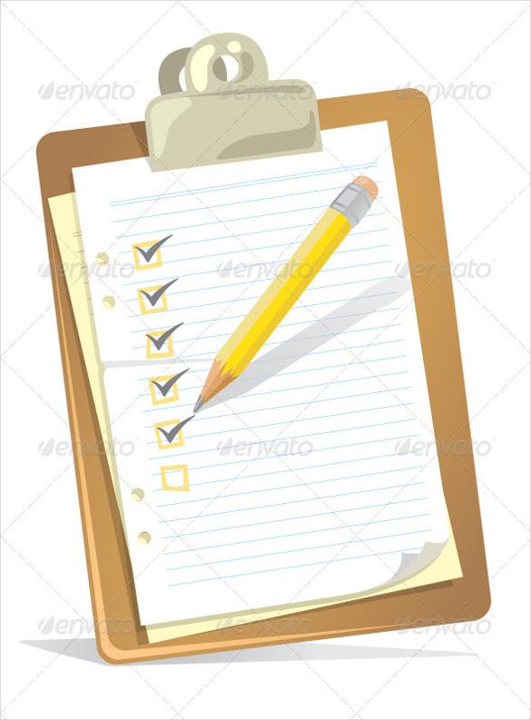 blank checklist paper