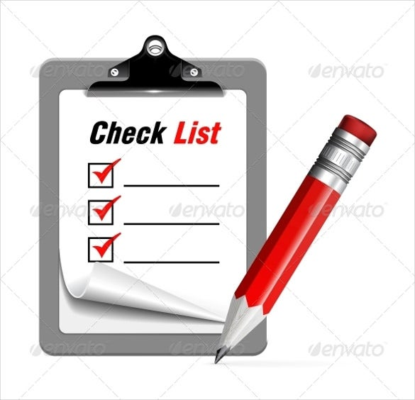 blank check list to do vector illustration