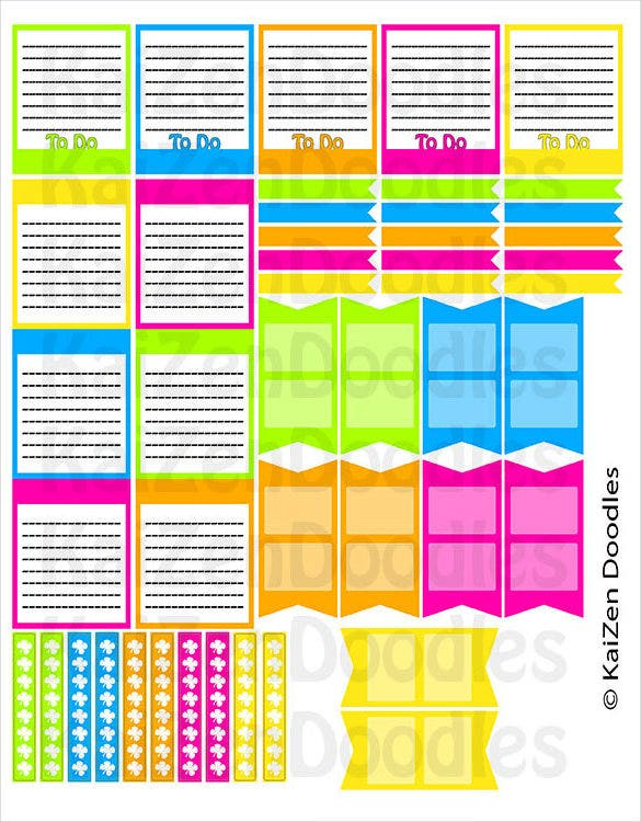 printable life planner checklist blank