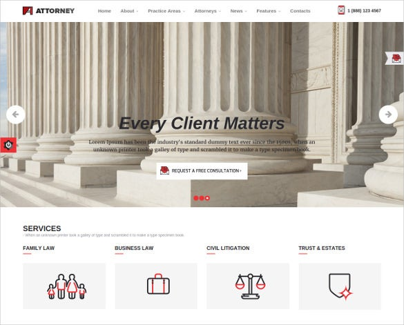 progressive law legal html5 template