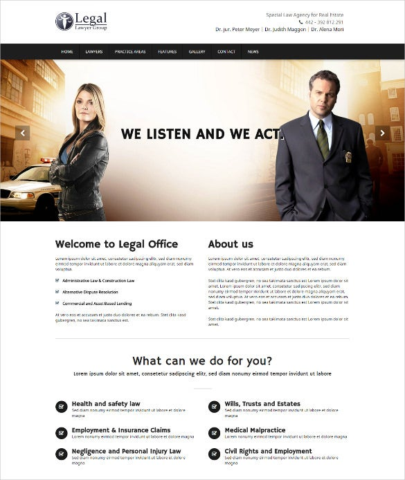 law legal firm attorneys html5 templates