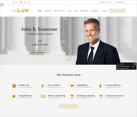 simple law legal html5 template