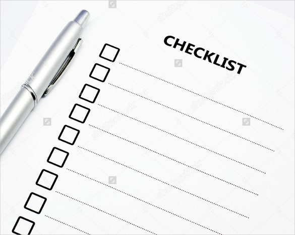 blank checklist to download
