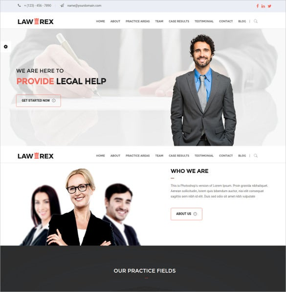 law legal responsive html5 template