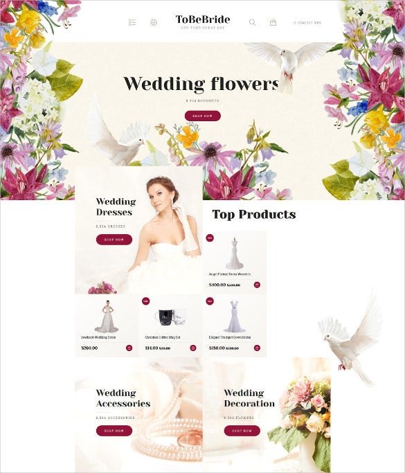 beautiful premium wedding opencart website template