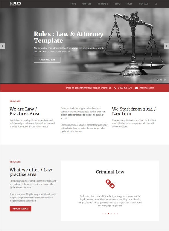 law legal website html5 templates