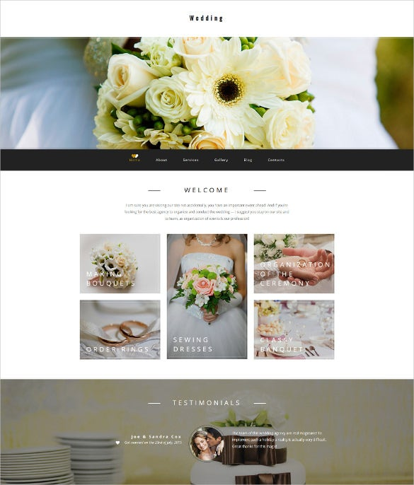 wedding planner responsive moto cms 3 website template