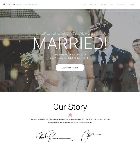 superb wordpress wedding website theme