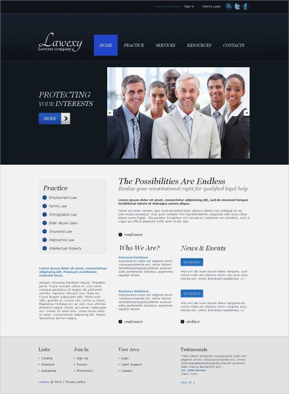 law legal firm moto cms html5 template