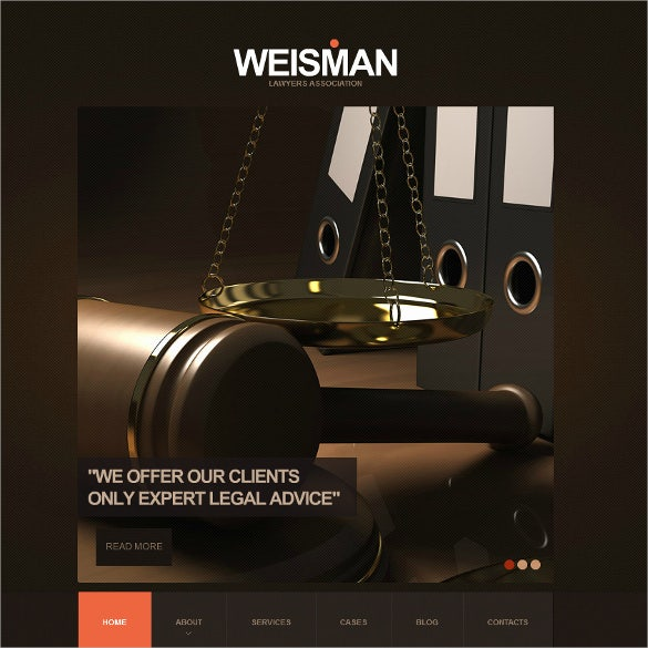law legal flash cms html5 template